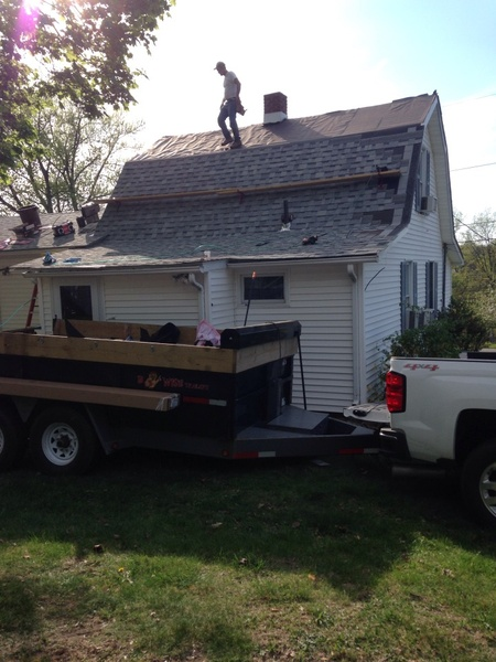 New roof installation being performed on a home by Rob Sherlock Roofing in Wurtsboro, NY